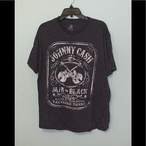 Worn Men's XXL Johnny Cash Grey Tee